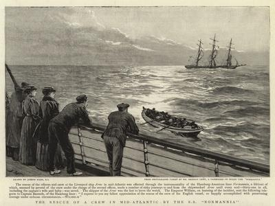 The Rescue of a Crew in Mid-Atlantic by the S S Normannia