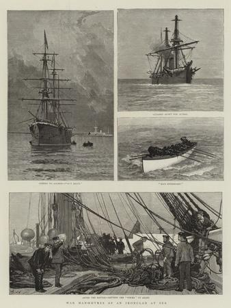 War Manoeuvres of an Ironclad at Sea