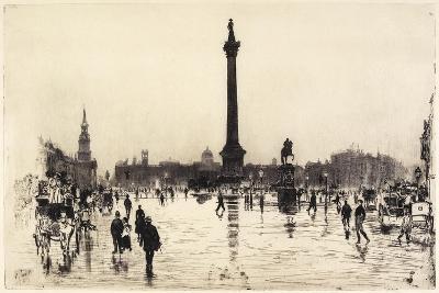 Nelson Monument, Trafalgar Square, London, 1887
