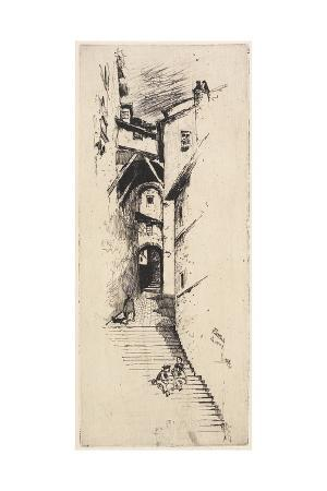 Street of Stairs, Siena, 1883