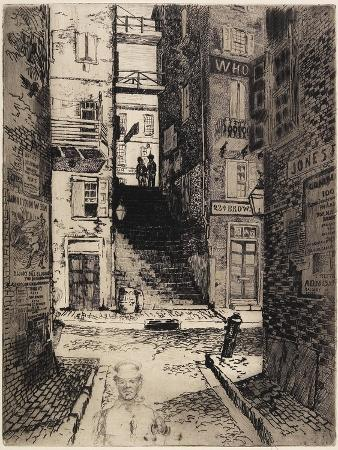 Water Street Stairs, Looking Up, 1881