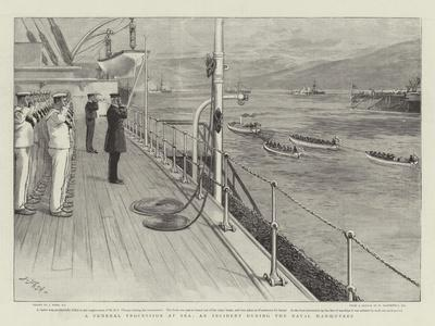 A Funeral Procession at Sea, an Incident During the Naval Manoeuvres