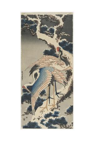 Cranes on Pine, C. 1834