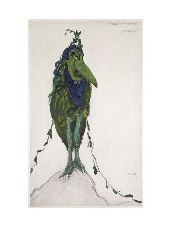 Costume Of'La Divinité Mineure ' for 'Narcisse', 1911 (Bodycolour and Graphite on White Wove Paper)
