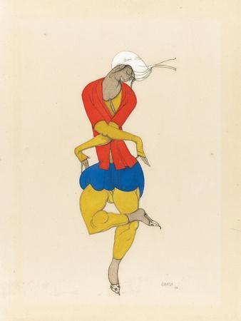 Maria Kuznetsova, Costume Design for 'L'Adoration', 1922 (Pencil and Gouache on Paper)