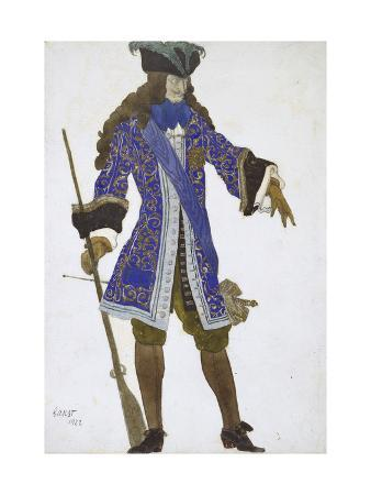 Design for the Count's Costume in Act III of 'The Sleeping Princess', 1922