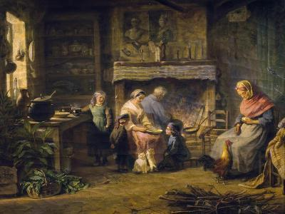 Breakfast at Farm, by Louise Adelaide Desnos (1807-After 1870), France, 19th Century