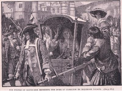 The People of Edinburgh Escorting the Duke of Hamilton to Holyrood Palace Ad 1706