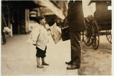 6 Year Old Newsboy Hyman Selling Papers Until 6 P.M. in Lawrence, Massachusetts, 1911