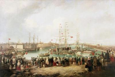 Opening of the South Dock, Sunderland, 1850, 1853