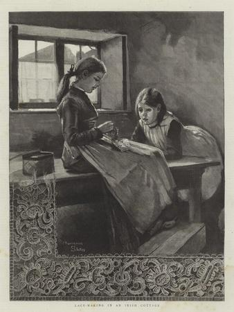 Lace-Making in an Irish Cottage