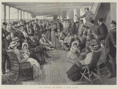 An Auction on Board a Cape Liner
