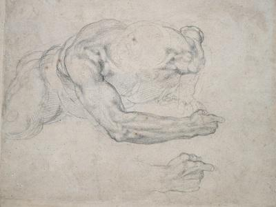 Study of a Man Rising from the Ground