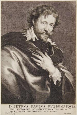 Portrait of Rubens, Icones Principum Virorum, 1630-45