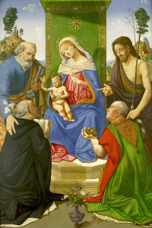 Madonna and Child Enthroned with Saints Peter