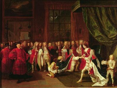 Queen Anne and the Knights of Garter, C.1720s