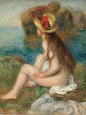 Nude with a Straw Hat Beside the Sea, 1892