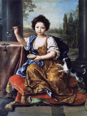 Portrait of Louise Marie Anne De Bourbon or Mademoiselle De Tours (1674-1681)