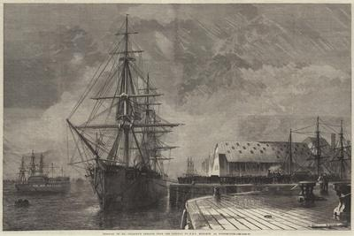 Removal of Mr Peabody's Remains from the Railway to HMS Monarch at Portsmouth