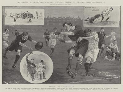 The Drawn Inter-University Rugby Football Match at Queen's Club, 13 December