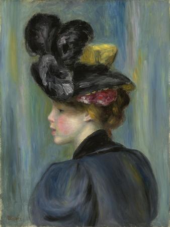 Young Woman with Black Hat, Jeune Femme Au Chapeau Noir, 1895