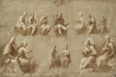 Christ and the Saints in Glory (Study for the Disputa)