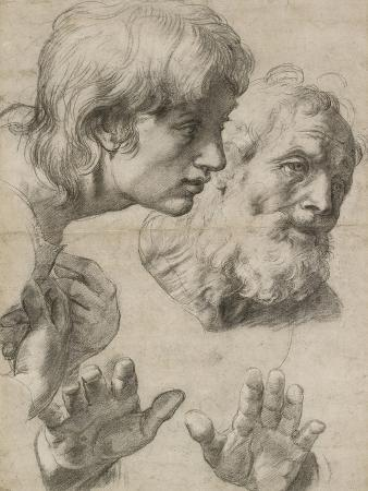 Studies of the Heads of Two Apostles and of their Hands