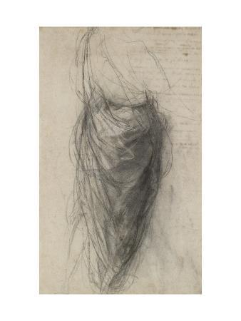 Study for the Drapery of a Man in Back View