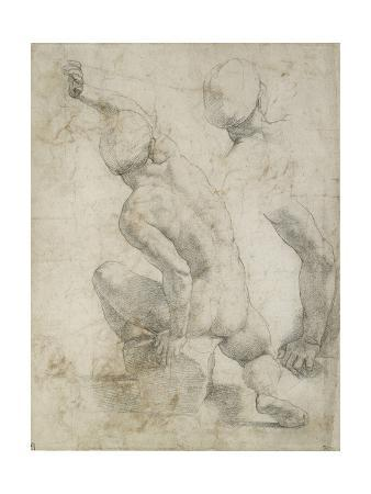 Recto: Nude Man Seated on a Stone