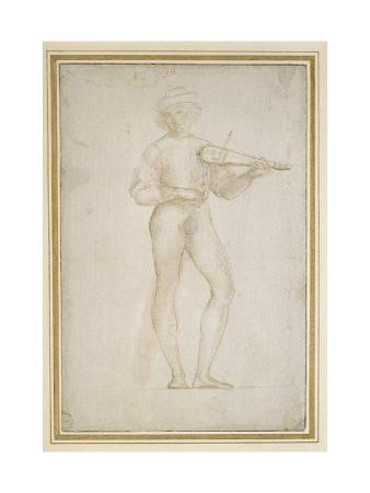 Study of a Young Man Making Music