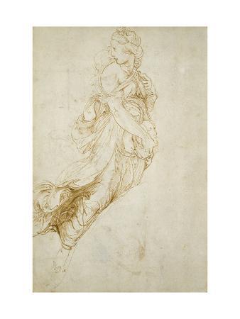 Study for the Figure of Melpomene