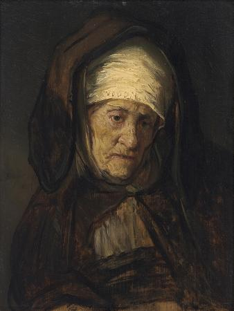 Head of an Aged Woman, 1655-60