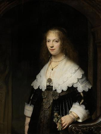 Portrait of a Woman, Possibly Maria Trip, 1639