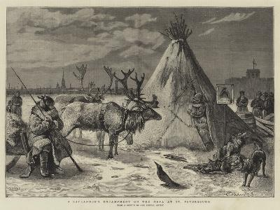 A Laplander's Encampment on the Neva at St Petersburg