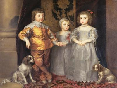 The Children of King Charles I of England (1600-49) and Queen Henrietta Maria (1609-69), 1637