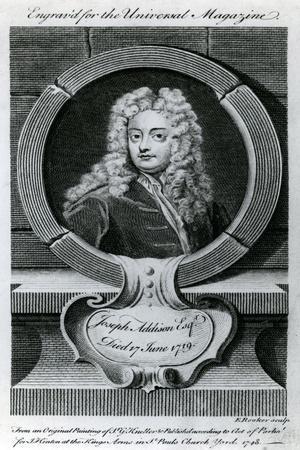 Joseph Addison, Esquire (1672-1719) Illustration for the Universal Magazine, 1748