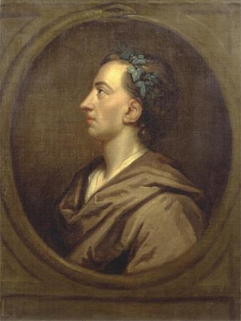 Alexander Pope (1688-1744) Profile, Crowned with Ivy