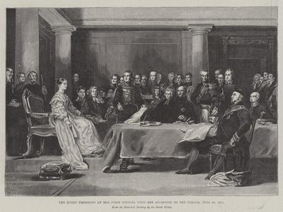 The Queen Presiding at Her First Council Upon Her Accession to the Throne, 20 June 1887