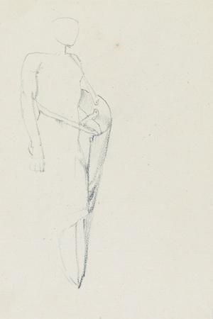 Study of Male with a Shield (Recto) and Female Torso