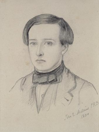 Portrait of Charles Allston Collins, 1850 (Graphite on Discoloured Cream Paper)