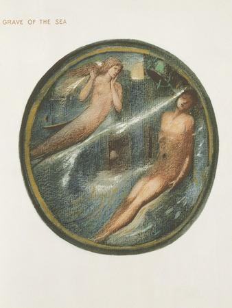 The Flower Book: Xvi. Grave of the Sea, 1905 (Litho with Gouache on Paper)