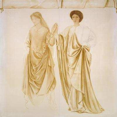 The Two Wives of Jason, before 1872 (Watercolour and Bodycolour over Black Chalk on Paper)