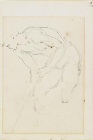 Study of a Male Figure, Page 129 from a Book of Studies, C. 1880-1890