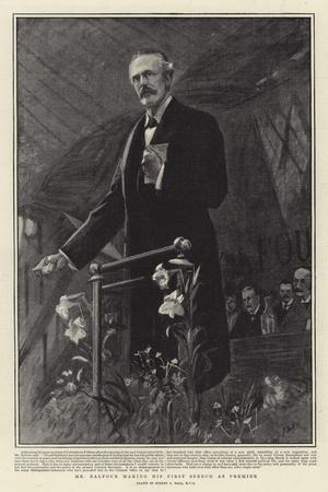 Mr Balfour Making His First Speech as Premier