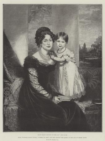 Hrh Victoria Maria Louisa, Duchess of Kent, and Her Majesty the Queen at the Age of Three Years