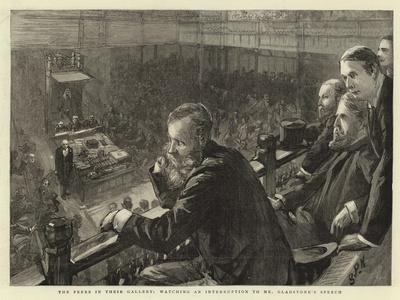 The Peers in their Gallery, Watching an Interruption to Mr Gladstone's Speech
