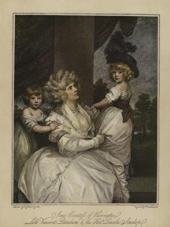 Jane Countess of Harrington, Lord Viscount Petersham, and the Honourable Lincoln Stanhope