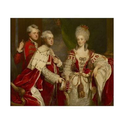 George, 2nd Earl Harcourt, His Wife Elizabeth, and Brother William, 1780