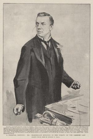 A Personal Defence, Mr Chamberlain Replying in the Debate on the Jameson Raid