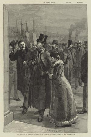 The Arrest of Messers O'Brien and Dillon on their Arrival at Folkestone